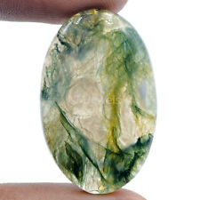 Cts. 38.60 Natural Designer Moss Agate Cabochon Oval Cab Loose Gemstone