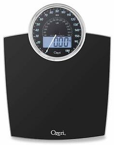 Ozeri Rev 400 Lbs (180 Kg) Bathroom Scale With Electro-Mechanical Weight Dial An