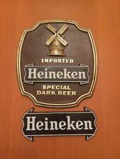 """Heineken Beer Signs -""""Imported Special Dark Beer"""" - Holland - Man Cave"""