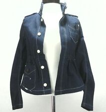 G STAR Jacket ORGANIC RAW Blue Denim Military Army Jean Womens sz XS New $260
