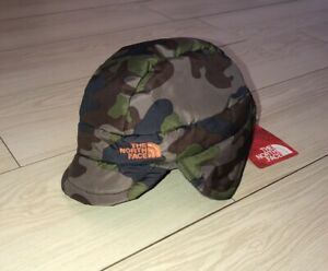 The North Face Green Camo Flapjack Earflap Cap Winter Hat Baby Infant NEW NWT