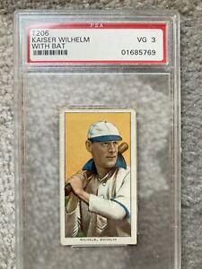 1911 T206 Kaiser Wilhelm With Bat - PSA 3 Piedmont 350-460/25