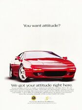 1994 Lotus Esprit S4 Advertisement Print Art Car Ad J570