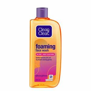 Clean & Clear Foaming Facewash for Oily Skin, Brown, 240ml Pack Of 1
