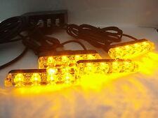 12 Voltios Luces LED luz estroboscópica de recuperación de color ámbar Naranja Parrilla ruptura Roadworks Faro