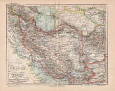 Antique map. ASIA. PERSIA. IRAN. IRAQ. AFGHANISTAN. 1905