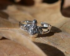 Baby Sea Turtle Toe Ring Adjustable Fine Sterling Silver New Shipping Included