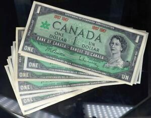 1967 $1 Bank of Canada Centennial Notes Set of 18 Crisp About UNC No Reserve