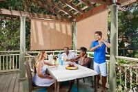 Cordless Fabric Roller Exterior Shade Blinds For Sliding Glass Doors And Patio