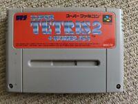Super Tetris 2 + Bombliss cartridge for Nintendo Super Famicom / SNES (NTSC-J)