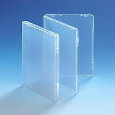 50 Ultra Clear DVD Style Multi Storage Case 14mm Spine Empty Without Disc Holder