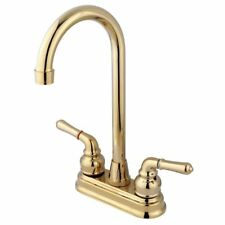 Elements of Design Magellan Brass 2-Handle Deck Mount High-Arc Bar Faucet EB492