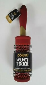Conair Velvet Touch Full Round Blow-Dry Styling Brush Red