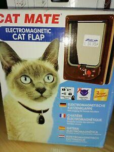 Cat Mate Cat Flap,  - Brown