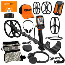 Quest Q40 Metal Detector+ Pack w/ 2 Coils, Hat, Wireless HP Pouch and Cover