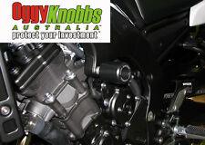 OK874 YAMAHA FZ1N 2006-15 OGGY KNOBBS NO CUT KIT (Black Knobbs) Frame Sliders