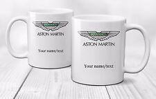Personalised Aston Martin Logo Mug Cup Gift Coffee Tea Cars - Ceramic 320ml