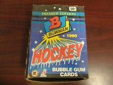 1990-91 Bowman NHL Hockey Wax Box-Gretzky-Lemieux-Yzerman!