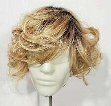 Hairdo Wigs Modern Flair Rooted Shaded Blonde  Curly Layered Bob Heat Friendly