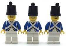 LEGO LOT OF 3 IMPERIAL SOLDIER MINIFIGURES PIRATES ONE VINTAGE BLUE COAT FIGS