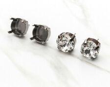 11mm | Classic Stud DIY Earring Bases | Three Pairs (EE 10)