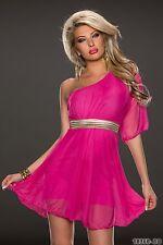 *♥* Sexy Cocktail-Kleid One Shoulder Go Go Abend-Kleid Größe 34/36/38 Pink*♥*