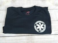 Rothco Emergency Medical Technician Black Two-Sided Tee Size XL EMT T-Shirt