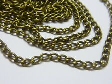 5m Antique Bronze Twisted Curb Unfinished Chain 3mm x 5mm Jewellery Making Craft