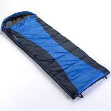 skandika Thurso Envelope Sleeping Bag Blue Cotton Lining Right Zip New