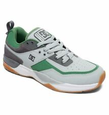 Taglia 42 - Scarpe Uomo Skate DC Shoes E.Tribeka Grey Green Sneakers Schuhe