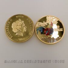 Year of The Rooster 24k Gold Plated Metal Coin Birthday Gifts Challenge Coin