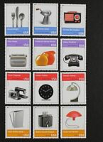 US Year 2011 #4546 Pioneers of Industrial Design Cpl set of 12 singles, Mint NH