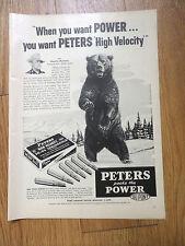1954 Peters 30-06 Springfield Ammunition Ad Charlie Madsen Kodiak Alaska Guide
