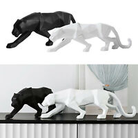 Panther Sculpture/Statue Geometric Modern Resin Leopard Ornaments/Decor for Home