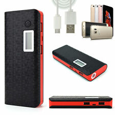 Black/red External 300000mAh Power Bank LED Backup Battery Charger iphone X,P20