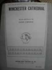 WINCHESTER CATHEDRAL by GEOFF STEPHENS (1966 ORGAN SHEET MUSIC)
