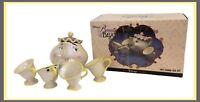 Disney Mrs. Potts & Chip Beauty And The Beast China Tea Set - 6 Pcs - NEW In Box