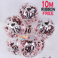 Rose Gold Happy Birthday AGE Bunting Balloon 18/21st/30/40/50/60th Party Baloons