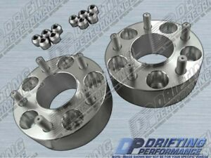"""Hub Centric 2"""" (50mm) Wheel Adapters Spacers 5x114.3 12x1.5 Studs 70.3mm CB"""