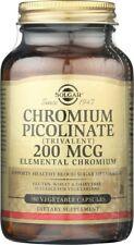 Solgar Chromium Picolinate 200mcg Vegetable 180 Capsules
