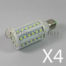 4 x Bombilla 60 LED SMD 5050 E27 Blanco Calido 220V 10W 1080 lumen equiv. 100W