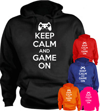 KEEP CALM AND GAME ON Present Gift New Hoodie