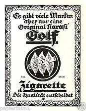 Zigarette Karasi Golf Reklame von 1924 Zigaretten Cirgarettes Tabakpflanze Ad