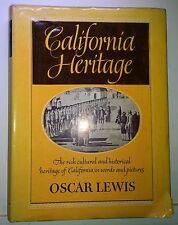 California Heritage, Oscar Lewis, 1940, Thomas Crowell - Signed, assumed 1st edi