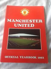 Manchester United Football Club Official Yearbook 1992 . Manu . Collectable