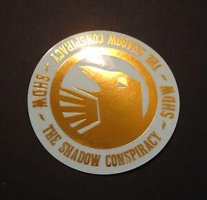 1 AUTHENTIC SHADOW CONSPIRACY BMX BIKES GOLD COLOURED LOGO STICKER #6 DECAL