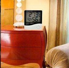 LCD Digital Alarm Clock Thermometer Temperature Humidity Hygrometer Meter White