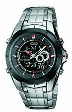 Casio Edifice Men's Illuminator Silver-Tone Bracelet 40mm Watch EFA119BK-1AV