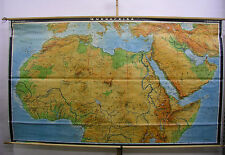 Schulwandkarte muro mapa Map África Canarias africa del norte de África 282x165cm 1978