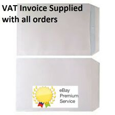 C4 A4 White Envelopes No window Box of 250 90gsm self seal plain pocket envelope